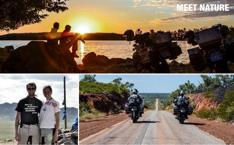 Bea und Helle auf Motorrad-Weltreise mit DANE TORRESO-Kombination